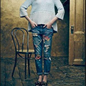 Pilcro Premium Hyphen Sweater Patch Jean - Size 32